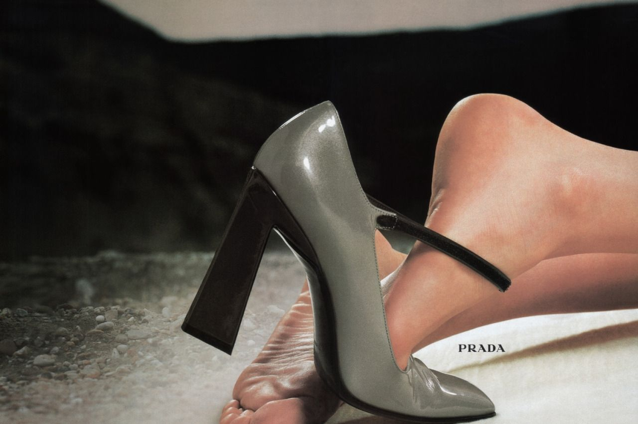 Prada <br> F/W 1998/99 ad campaign patent leather Mary Janes