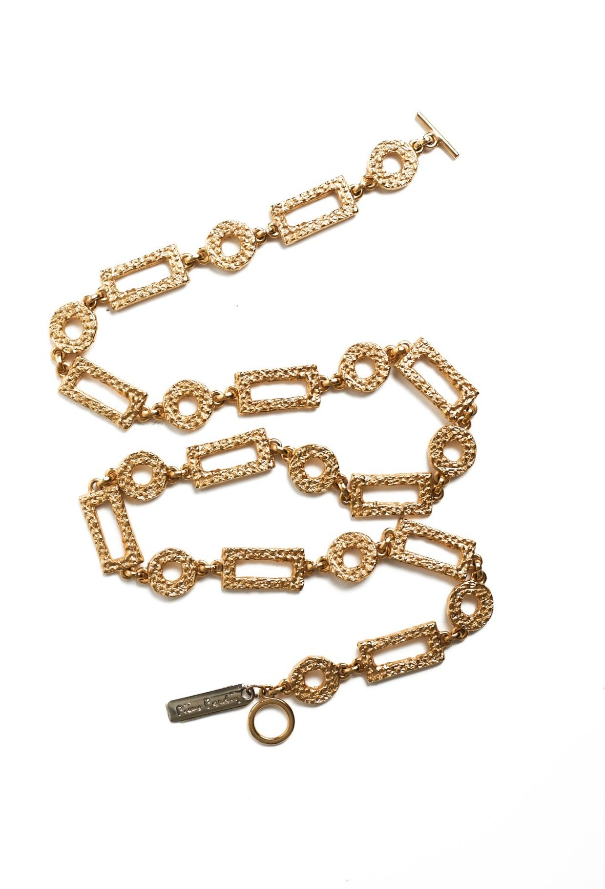 Pierre Cardin <br> 70's/80's gold plated chain link necklace/belt
