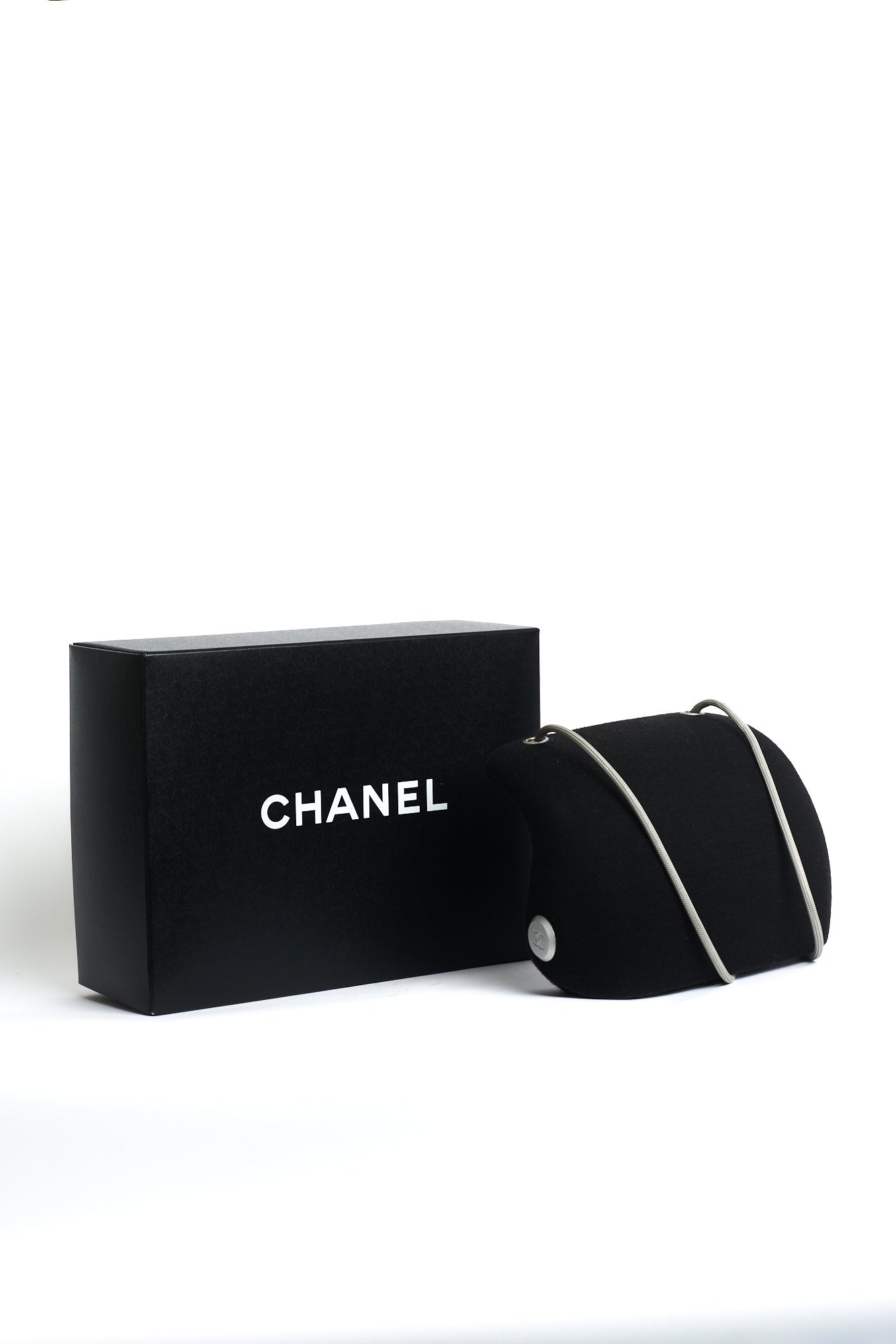 Chanel <br> S/S 1999 black flannel Millenium 2005 bag