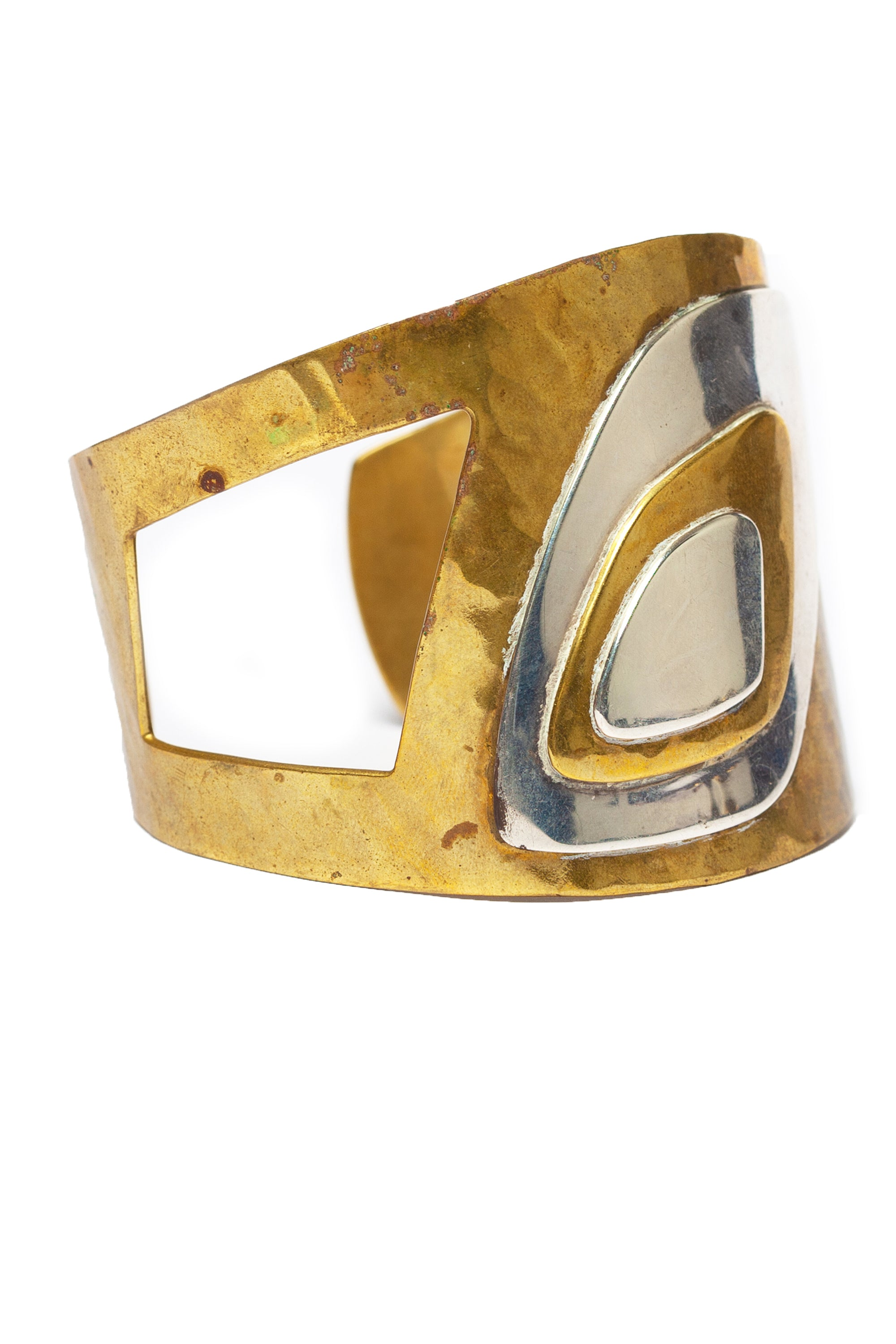 Vintage <br> 60's Mexican brass bangle