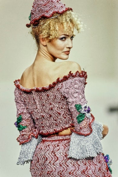 Vivienne Westwood <br> A/W 1994/95 'On Liberty' metallic crochet corset