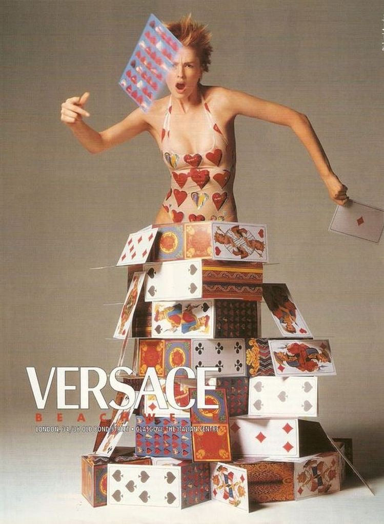 Versace <br> S/S 1997 heart print swimsuit