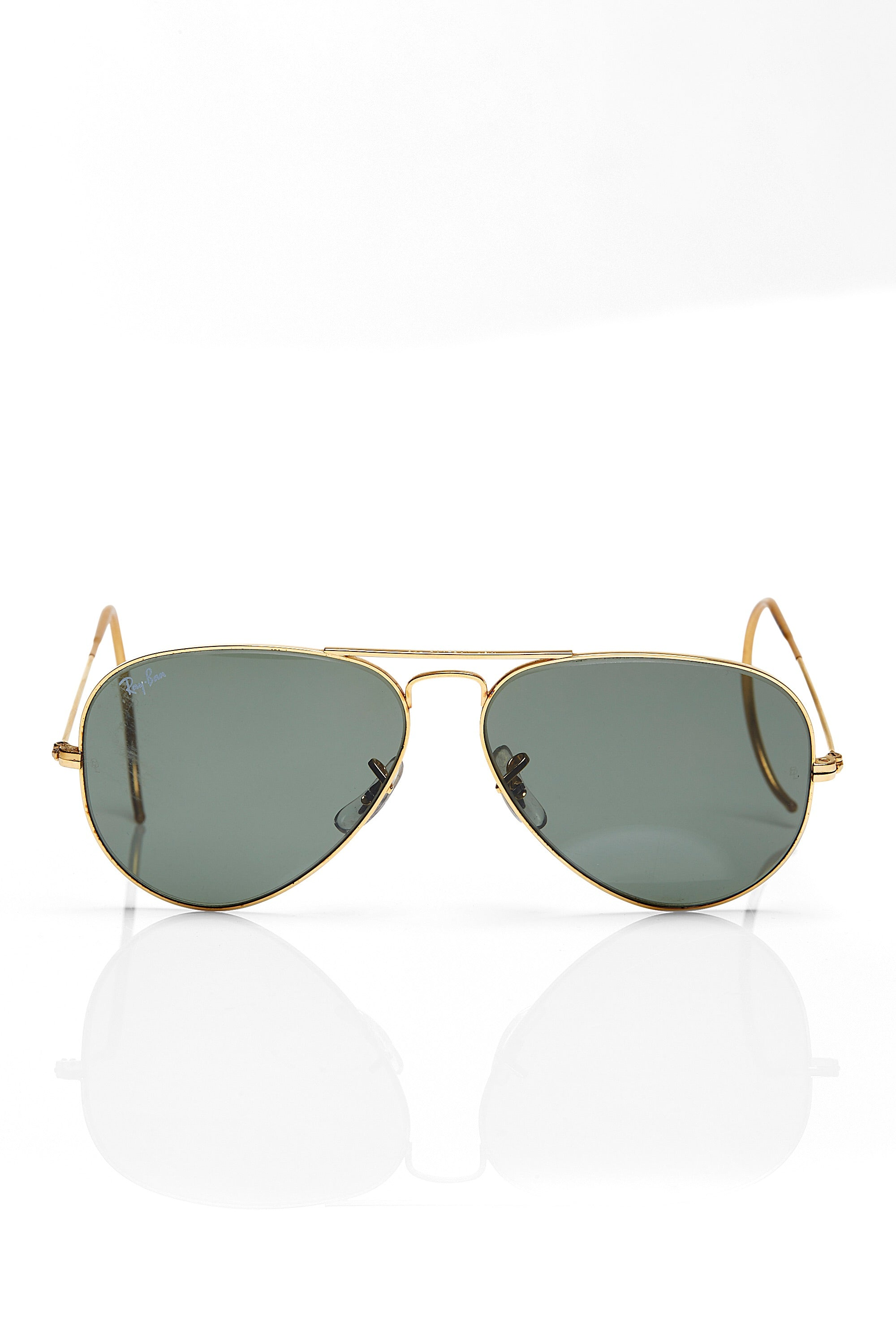 Ray Ban <br> 70's gold frame aviator sunglasses