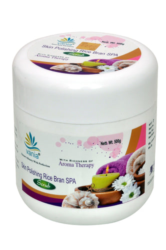 Vania Skin Polishing Rice Bran Spa Scrub  500 Gm.
