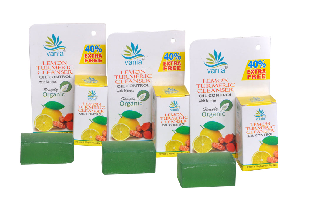 Combo Of 3 Pces Vania Lemon Turmeric Cleanser 35 Gram