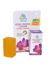 Combo of 12 pces of vania Kesar Chandan Cleanser 35 Gm (25 Gm + 10 Gm FREE inside MRP Rs69*12=828
