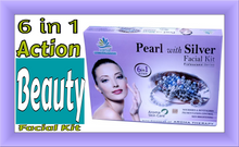 Load image into Gallery viewer, 6 IN 1 ACTION BEAUTY FACIAL KIT, CURES PIGMENTATION IN AN AROMA THERAPY WAY, AROMA OILS, HONEY, SHEA BUTTER, ALOE VERA, SAFFRON PHTHALATE FREE,GOLD FACIAL KIT FOR MEN AND WOMEN, DIAMOND FAIRNESS INSTANT GLOW SKIN WHITENING BRIDES GROOM AROMA PEARL SILVER ANTI AGEING BEAUTY LIGHTENING PIGMENTATION RADIANCE PARTY MARRIAGE UNISEX GIRLS BOYS VANIA