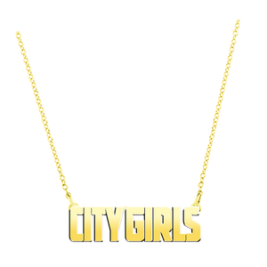 City Girls Gold Name Plate + Digital Album