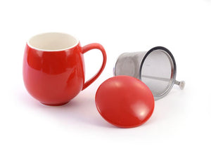 Porcelain Infuser 1 Cup Mug - Ten-Teas Loose Leaf Tea