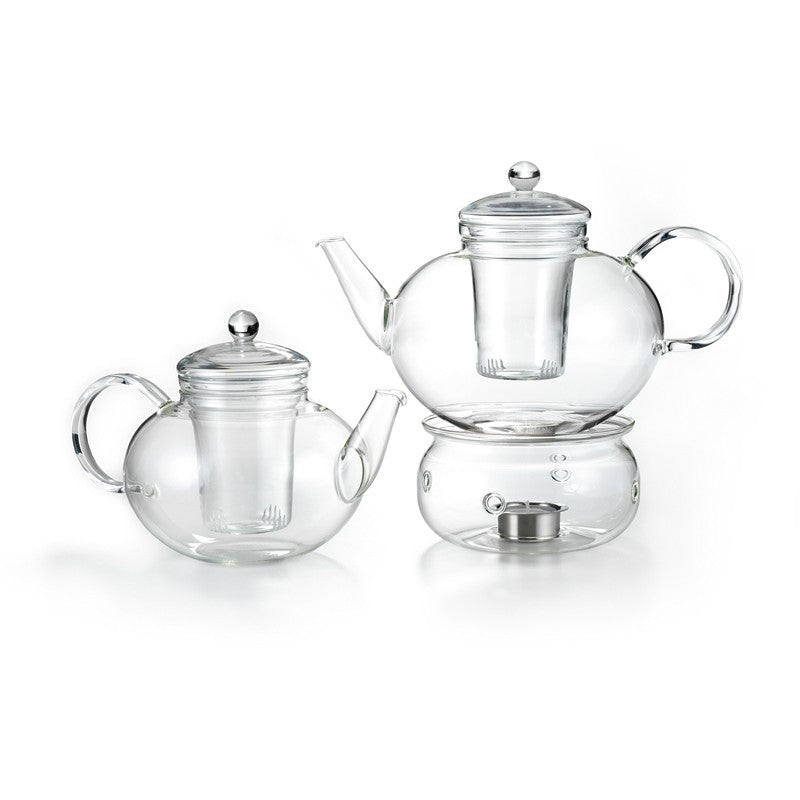 6 Cup Glass Teapot with Warmer (1.2 L) - Loose Leaf Tea Subscription Boxes