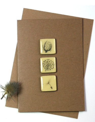 Art Card - Three Tiles, Teasel