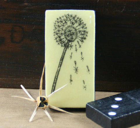 Cottage Garden Domino Brooch -  Dandelion