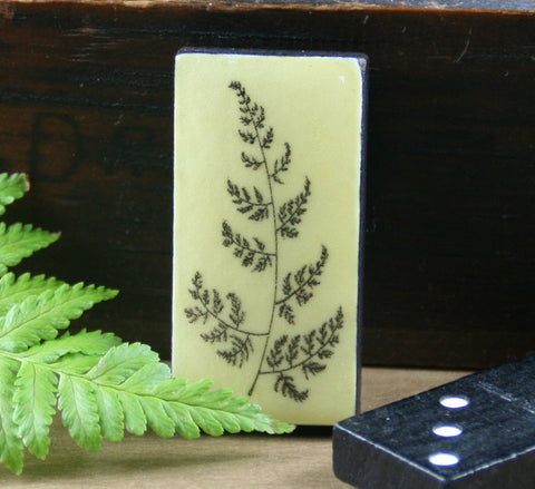 Cottage Garden Domino Brooch -  Fern