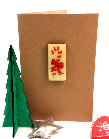 Christmas Art Card - Candy Cane