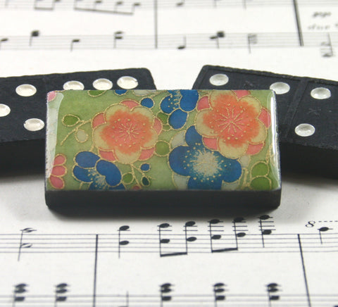 Domino Brooch - Posy Green