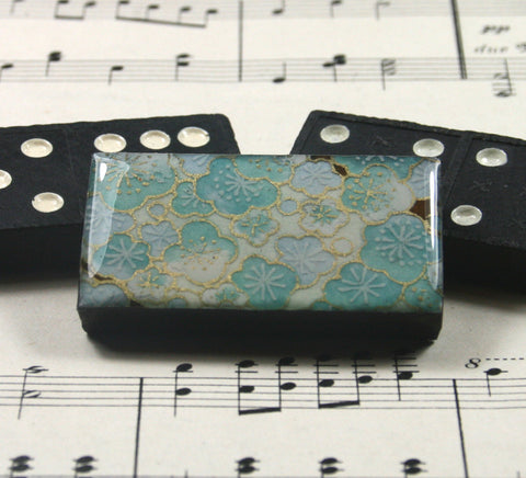 Domino Brooch - Sakura Blue