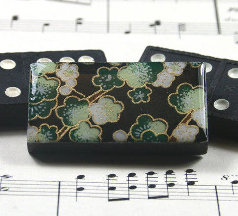Domino Brooch - Sakura Green