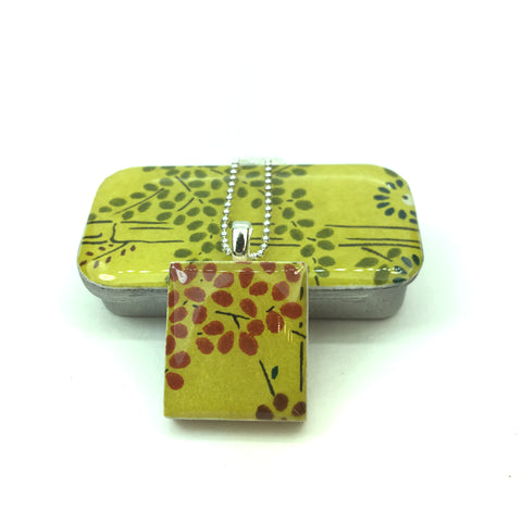 A Scrabble Tile Pendant and Teeny Tiny Tin Bamboo