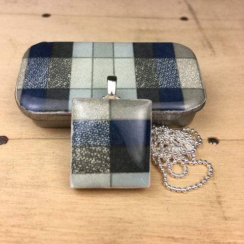 A Scrabble Tile Pendant and Teeny Tiny Tin Geo Slate