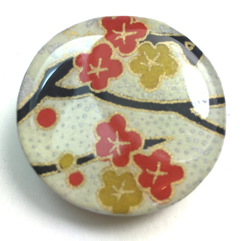 Draughts Piece Brooch - Kim Silk