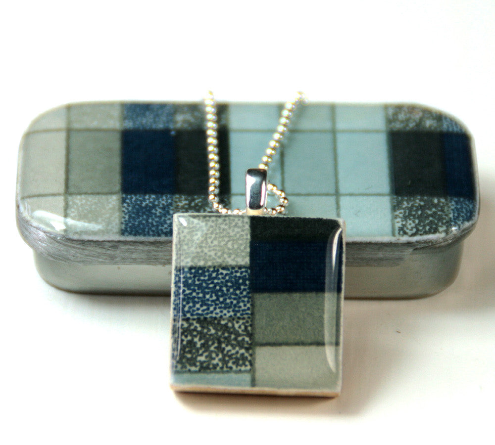 A scrabble tile pendant and teeny tiny tin geo slate leigh a scrabble tile pendant and teeny tiny tin geo slate mozeypictures Gallery