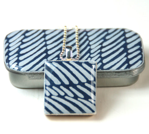 A Scrabble Tile Pendant and Teeny Tiny Tin Wave