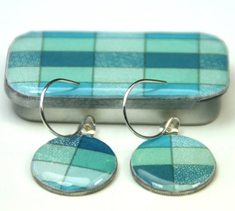 Sixpence Earrings and Teeny Tiny Tin Geo Ocean