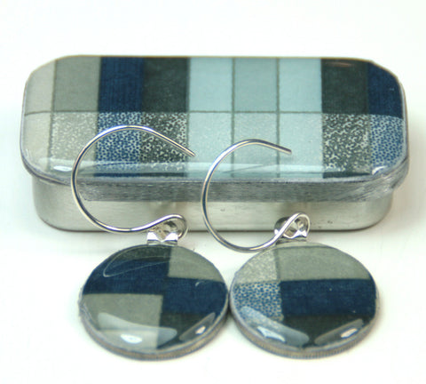 Sixpence Earrings and Teeny Tiny Tin Geo Slate
