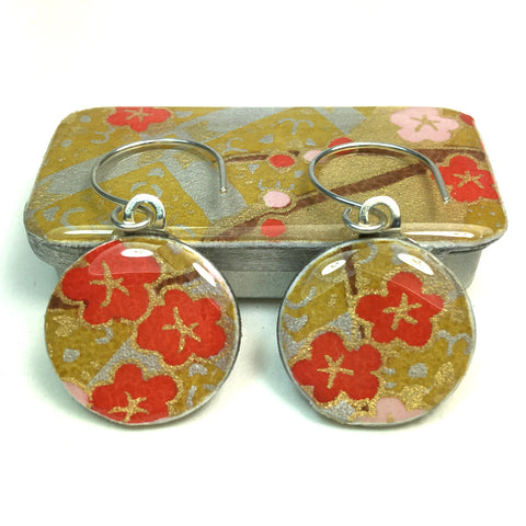 Sixpence Earrings and Teeny Tiny Tin Kim Gold