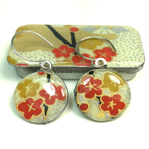 Sixpence Earrings and Teeny Tiny Tin Kim Silk