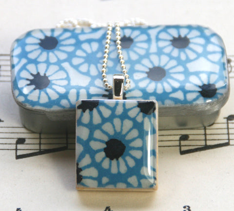 A Scrabble Tile Pendant and Teeny Tiny Tin Batik