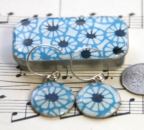 Sixpence Earrings and Teeny Tiny Tin Batik