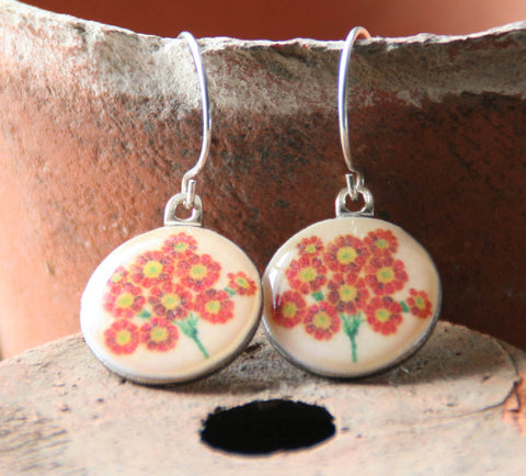 Seed Envelope Sixpence Earrings and Teeny Tiny Tin Polyanthus