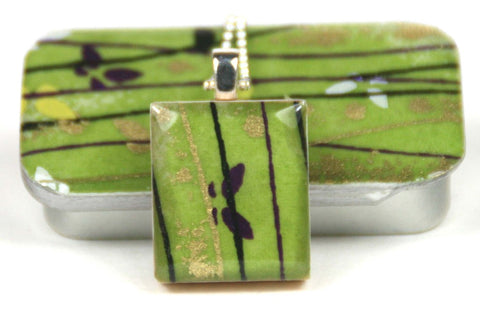 A Scrabble Tile Pendant and Teeny Tiny Tin Flutterby