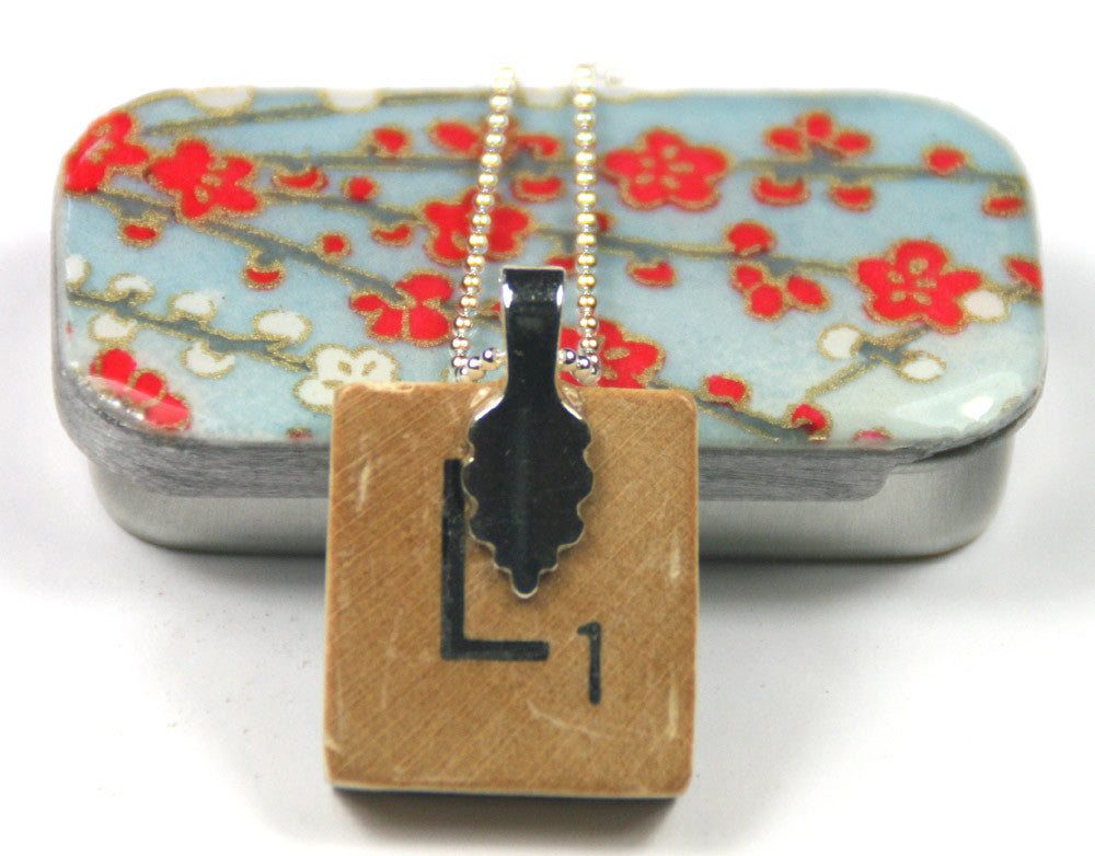 A scrabble tile pendant and teeny tiny tin sky blue blossom a scrabble tile pendant and teeny tiny tin sky blue blossom mozeypictures Images