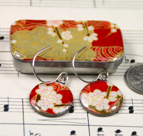 Sixpence Earrings and Teeny Tiny Tin Chiyo Wine