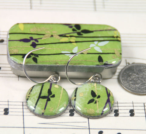 Sixpence Earrings and Teeny Tiny Tin Flutterby