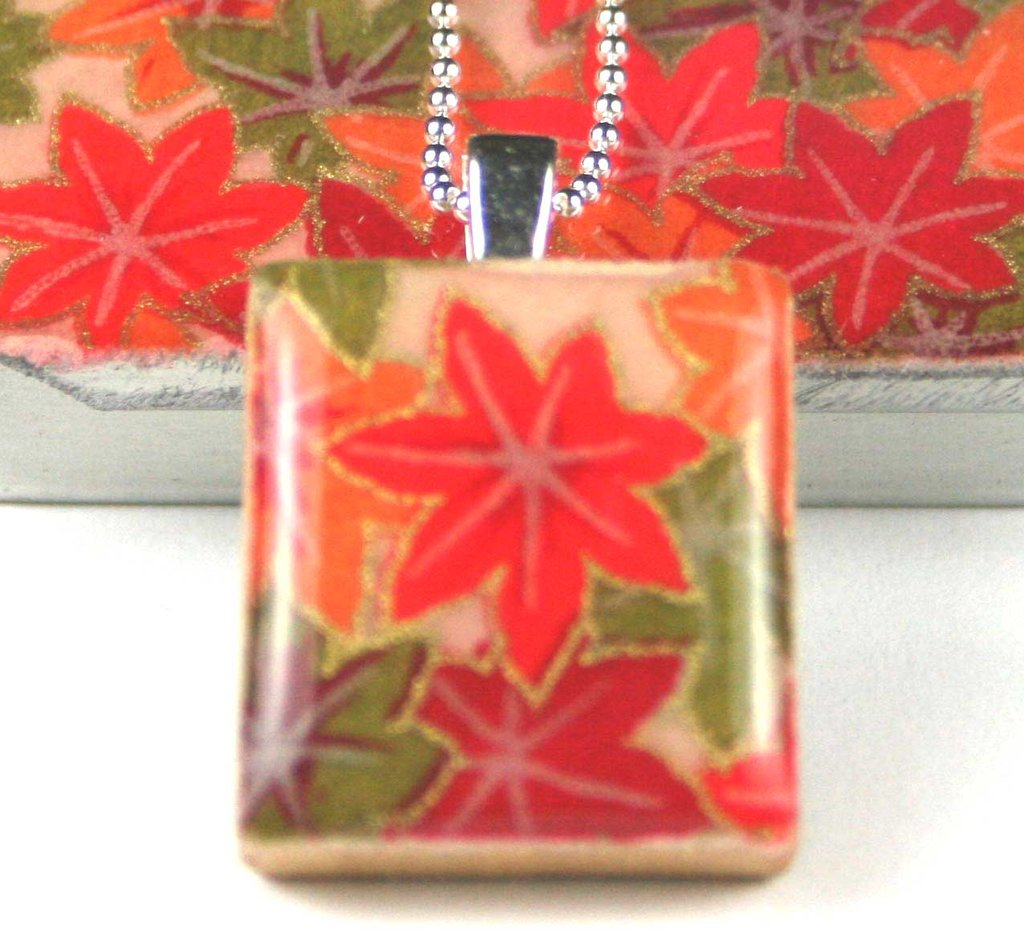 A scrabble tile pendant and teeny tiny tin autumn maple leigh a scrabble tile pendant and teeny tiny tin autumn maple aloadofball Image collections