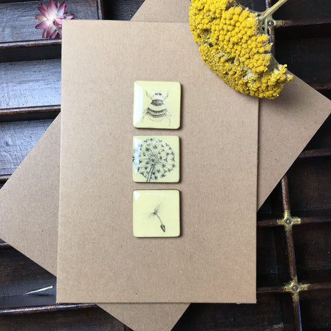 Art Card - Three Tiles, Bee