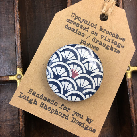 Draughts Piece Brooch - Arches