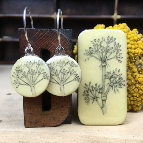 Cottage Garden Sixpence Earrings and Teeny Tiny Tin - Parsley