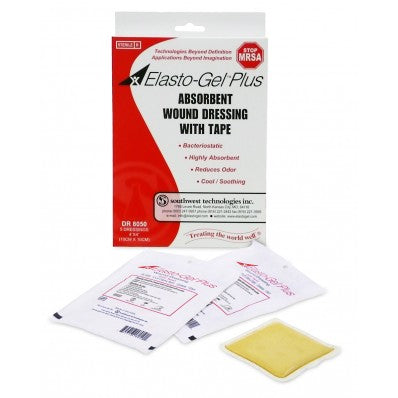 ELASTO-GEL WOUND DRESSING WITH TAPE