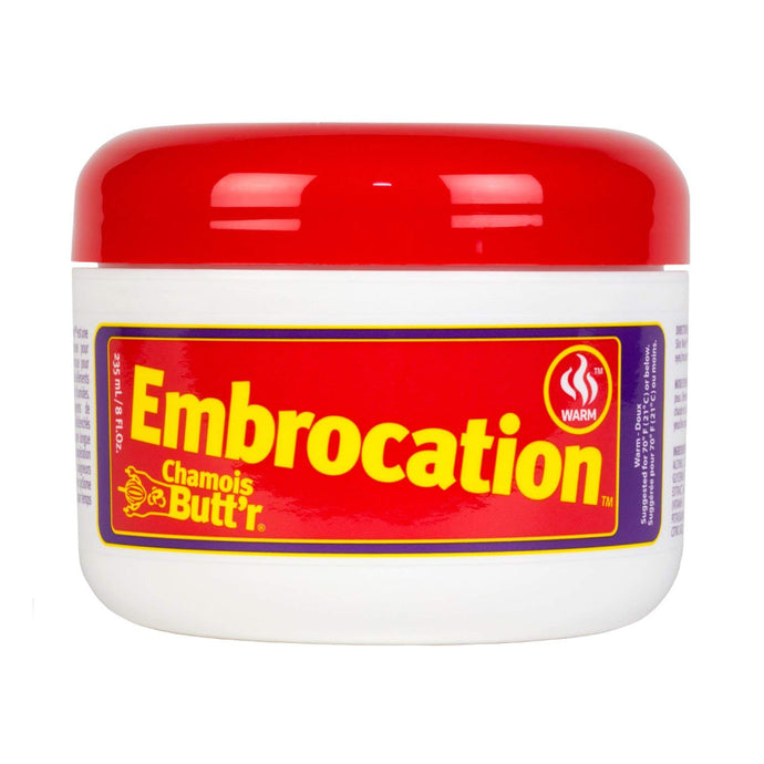 Chamois Butt'r Warm Embrocation Muscle Warming Cream, Non-Greasy, Made in the USA - 8 Fl. Oz. Jar
