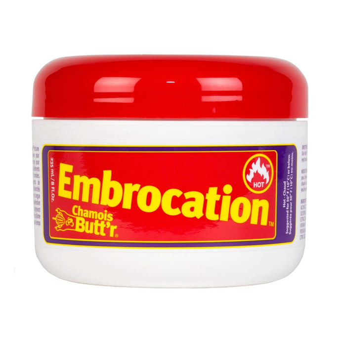 Chamois Butt'r Hot Embrocation Muscle Warming Cream, Non-Greasy, Made in the USA - 8 Fl. Oz. Jar