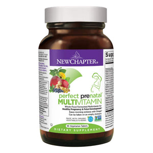 New Chapter Perfect Prenatal Vitamins, Organic Non-GMO Ingredients - Fermented with Wholefoods for Mom & Baby - 96 Vegetarian Tablets