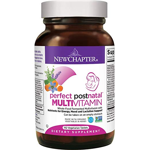 New Chapter Perfect Postnatal Multivitamin - 192 Vegetarian Tablets