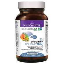 New Chapter Multivitamin Every Man's One Daily 55+ with Fermented Probiotics + Whole Foods + Astaxanthin + Vitamin D3 + B Vitamins - 24 Vegetarian Tablets