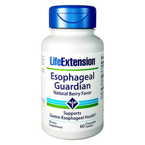 Life Extension Esophageal Guardian Berry Flavor Supports Stomach Health - 60 Chewable Tablets