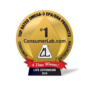 Life Extension Super Omega-3 Fish Oil with Sesame Lignans & Olive Extract, Heart & Joint Support - 120 Softgels