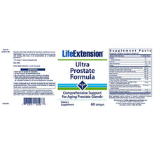 Life Extension Ultra Prostate Formula, Advanced, Multi-nutrient Formula for Prostate Health Support - 60 softgels